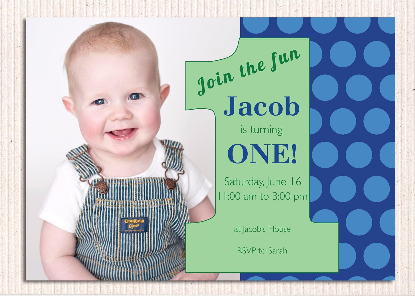 1st Birthday Invitations Templates with Photo Free First Birthday Invitations – Bagvania Free Printable