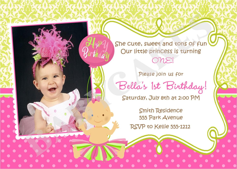 1st Birthday Invites Wording Quotes for 1st Birthday Invitations Quotesgram