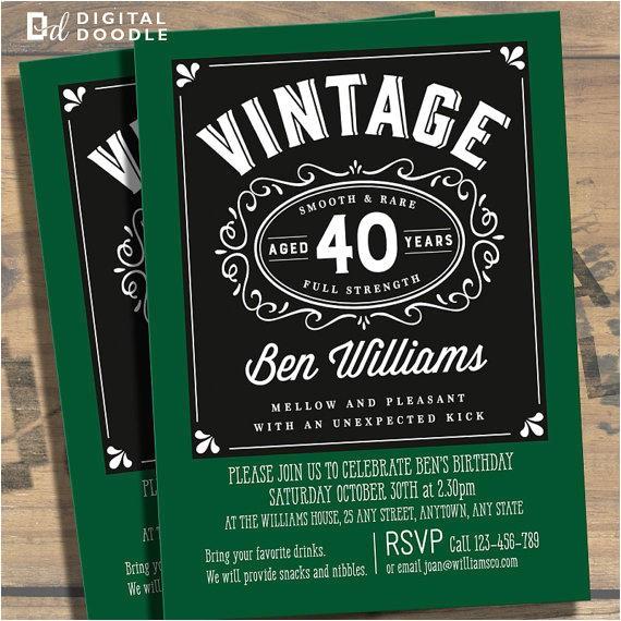 40th Birthday Invitation Wording for Man 40th Birthday Party Invitations for Men
