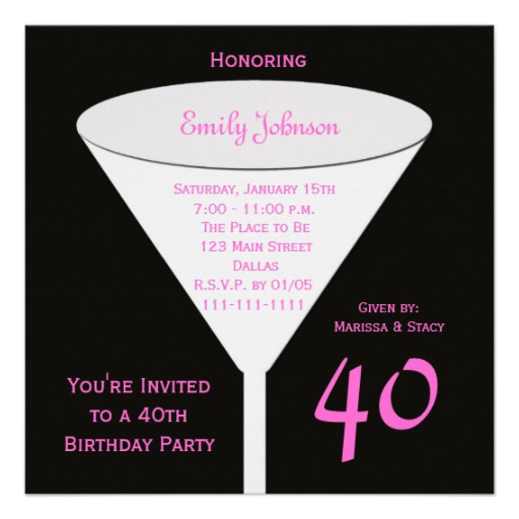 40th Birthday Party Invitations Templates Free 40th Birthday Party Invitations Free