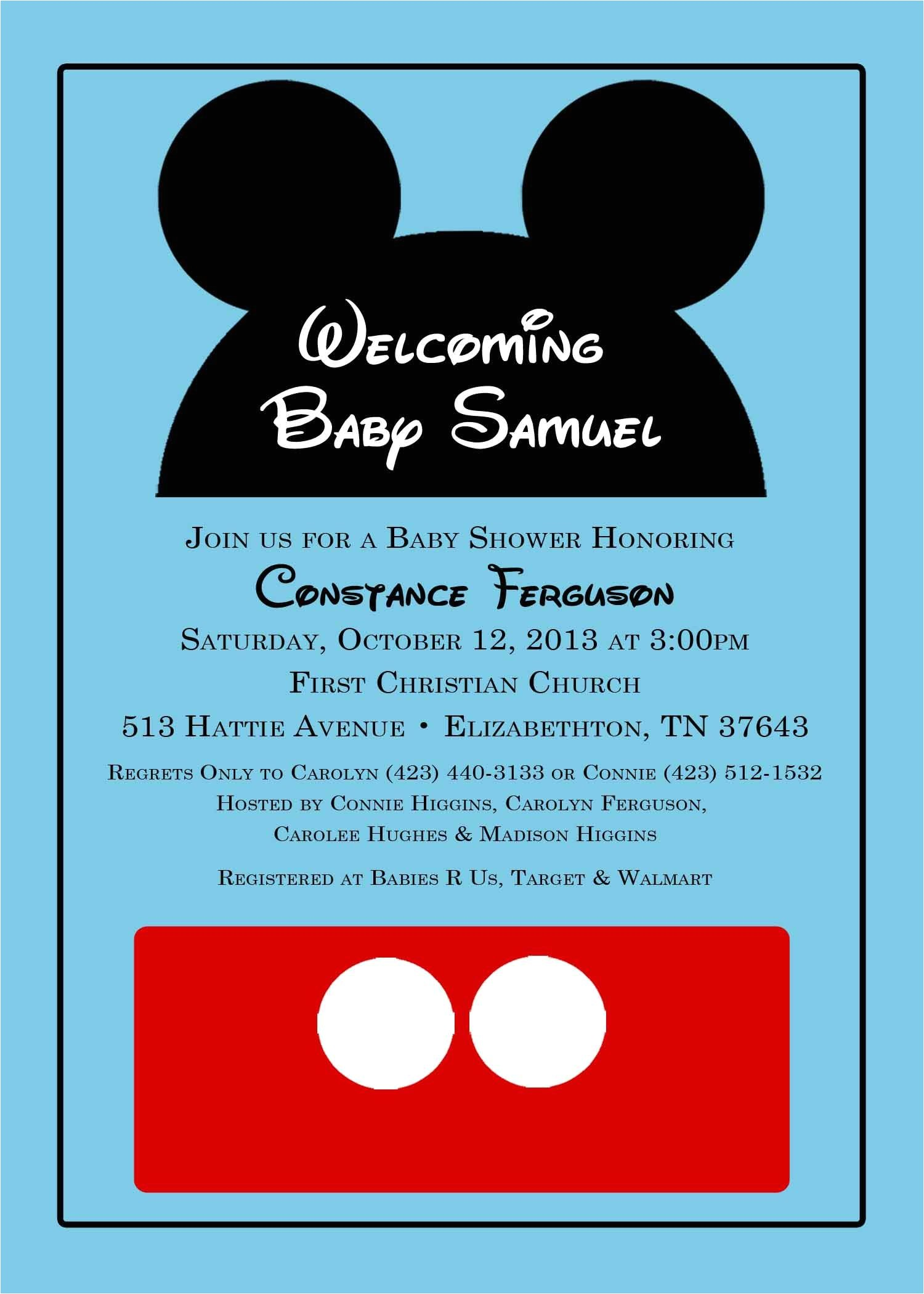 Baby Mickey Shower Invitations Mickey Mouse Baby Shower Invitation From Katedidesign On