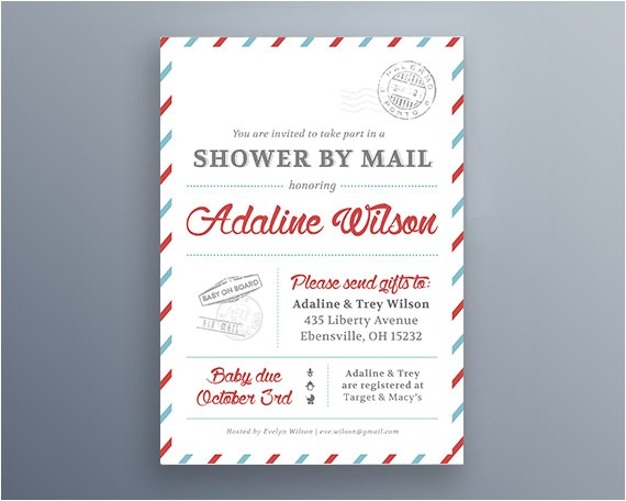 Baby Shower by Mail Invitations Baby Shower by Mail Invitations