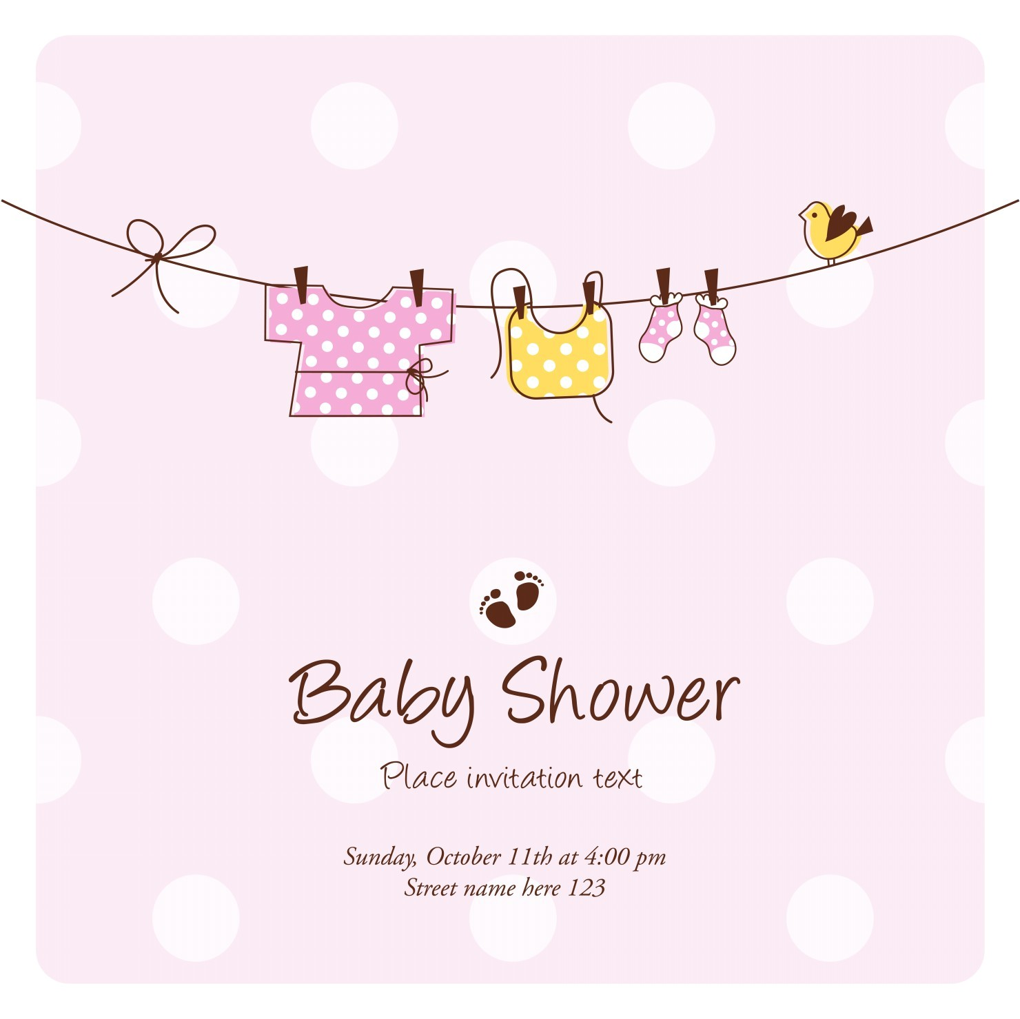 Baby Shower Ecards Free Invitations Template Invitation Cards for Baby Shower