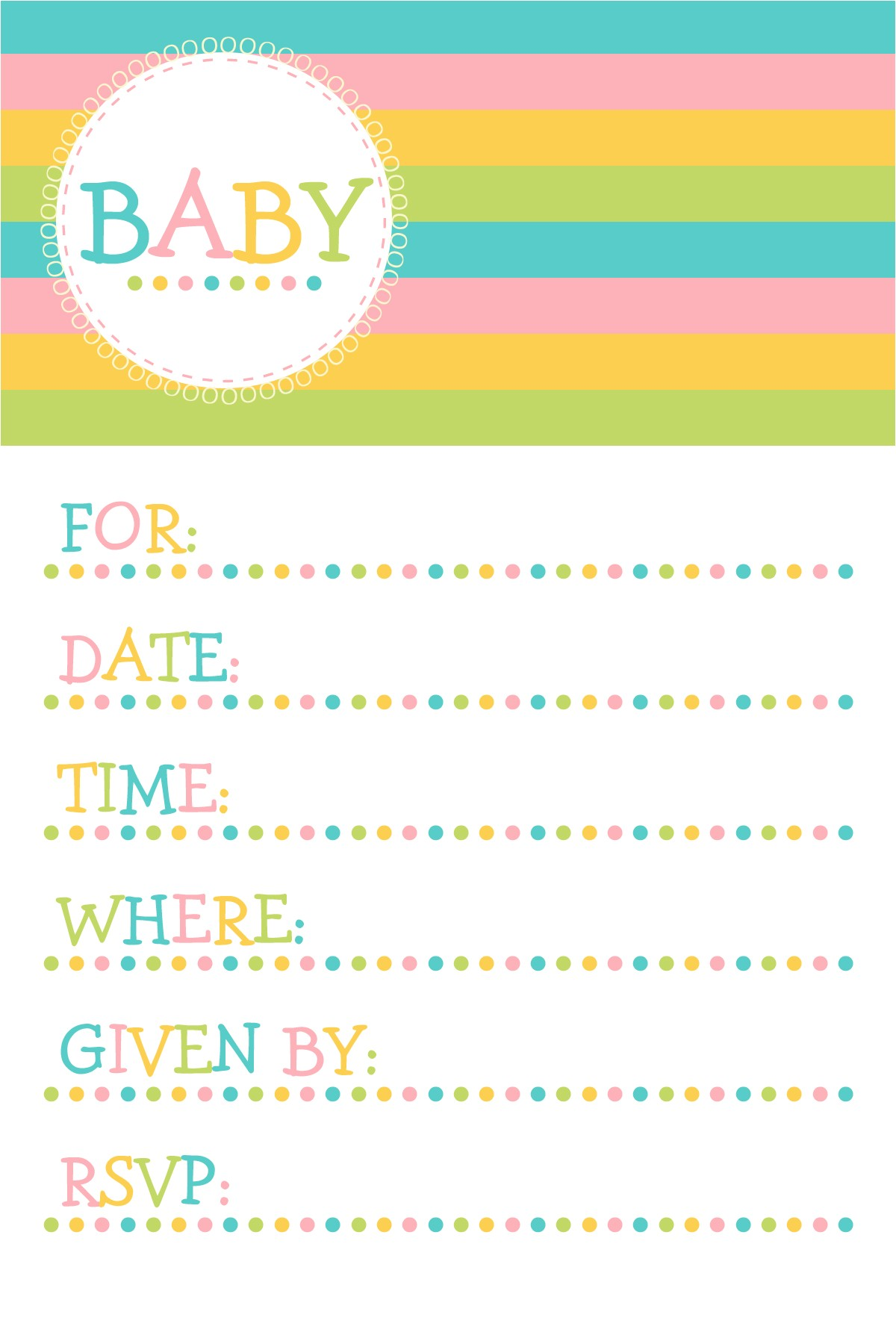Baby Shower Invitation Templates Printable Free Baby Shower Invitation Template