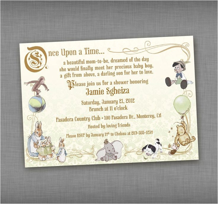 Baby Shower Invitations Storybook theme 17 Best Images About Nursery Rhyme and Storybook themed