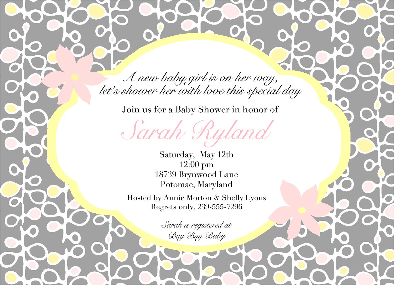 Baby Shower Invites Wording Wording for Baby Shower Invitations asking for Gift Cards