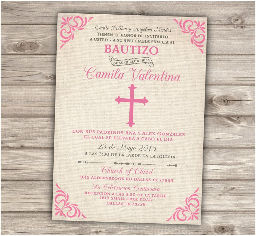 Baptism Invitations In Spanish Free Chandeliers & Pendant Lights