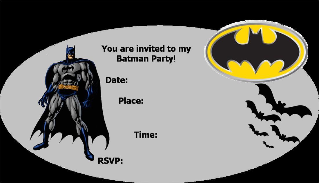Batman Birthday Invites Free Printables Batman Party Invitations Template