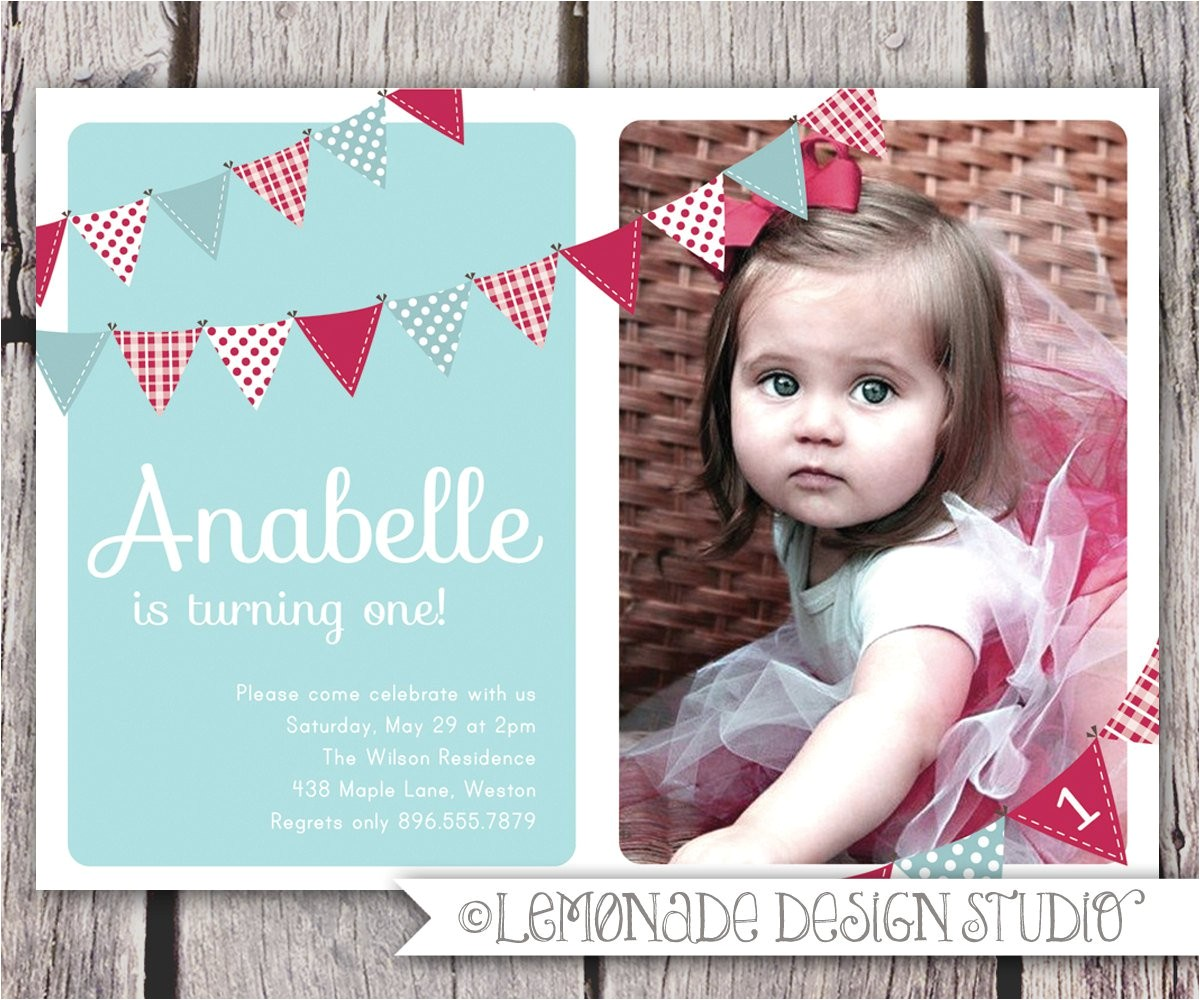 Birthday Invitation Wordings for 1 Year Old 1 Year Old Birthday Invitations