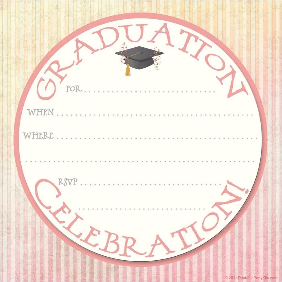 Blank Graduation Party Invitations Templates 40 Free Graduation Invitation Templates Template Lab