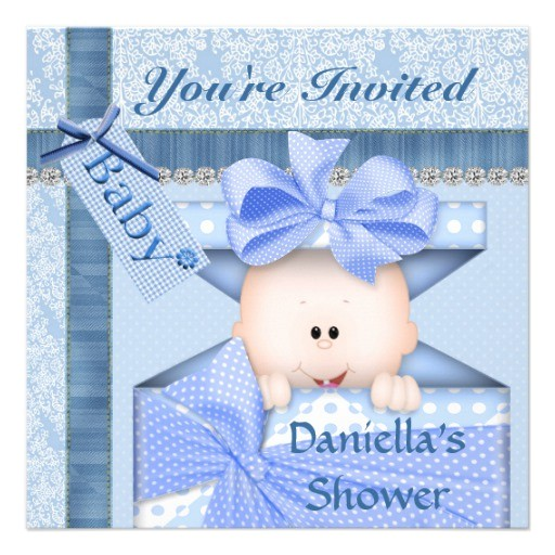 Bling Baby Shower Invitations Bling & Adorable Baby Shower Invitation Boy