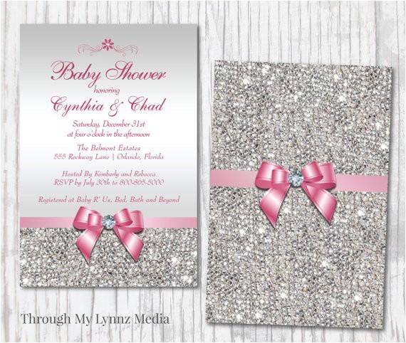 Bling Baby Shower Invitations Bling Baby Shower Invitation Diamond Princess Baby Shower