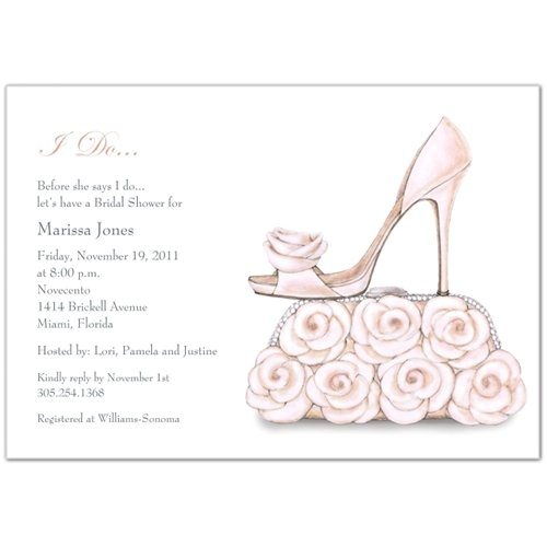 Bridal Shower Email Invitations Pink White Fall Invitations Spring Summer Winter Wedding