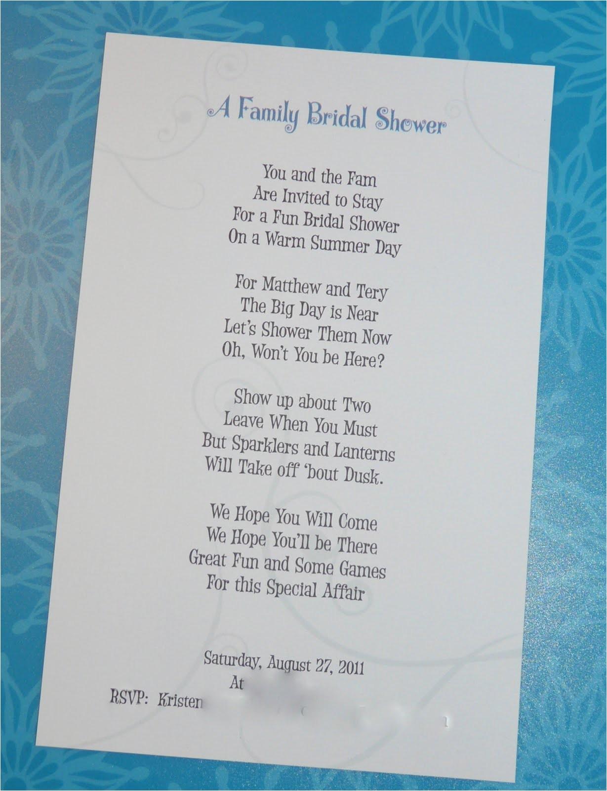Bridal Shower Invitation Poems Writing A Bridal Shower Invitation Poem Celebrate Every