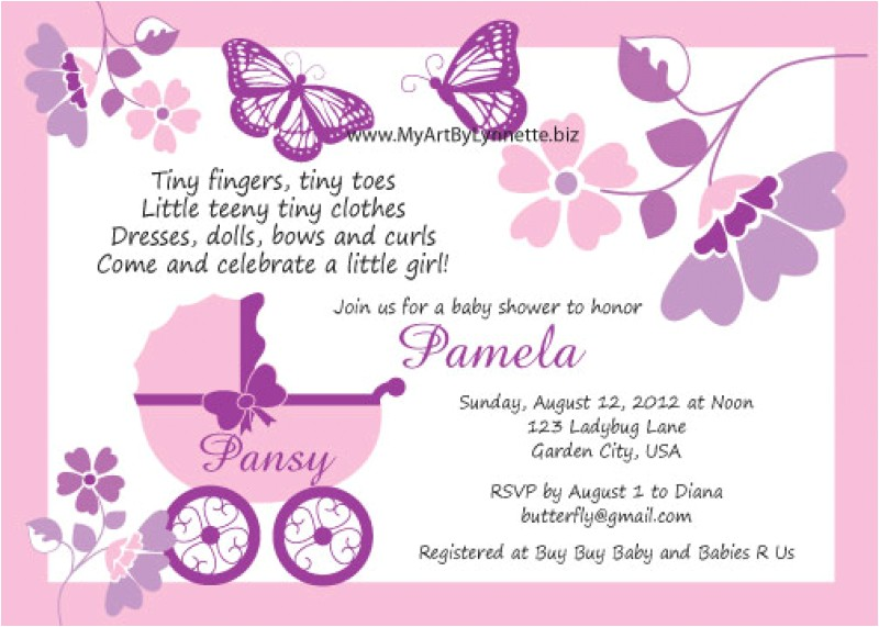 Butterfly Baby Shower Invites butterfly Baby Shower Invitations – Gangcraft