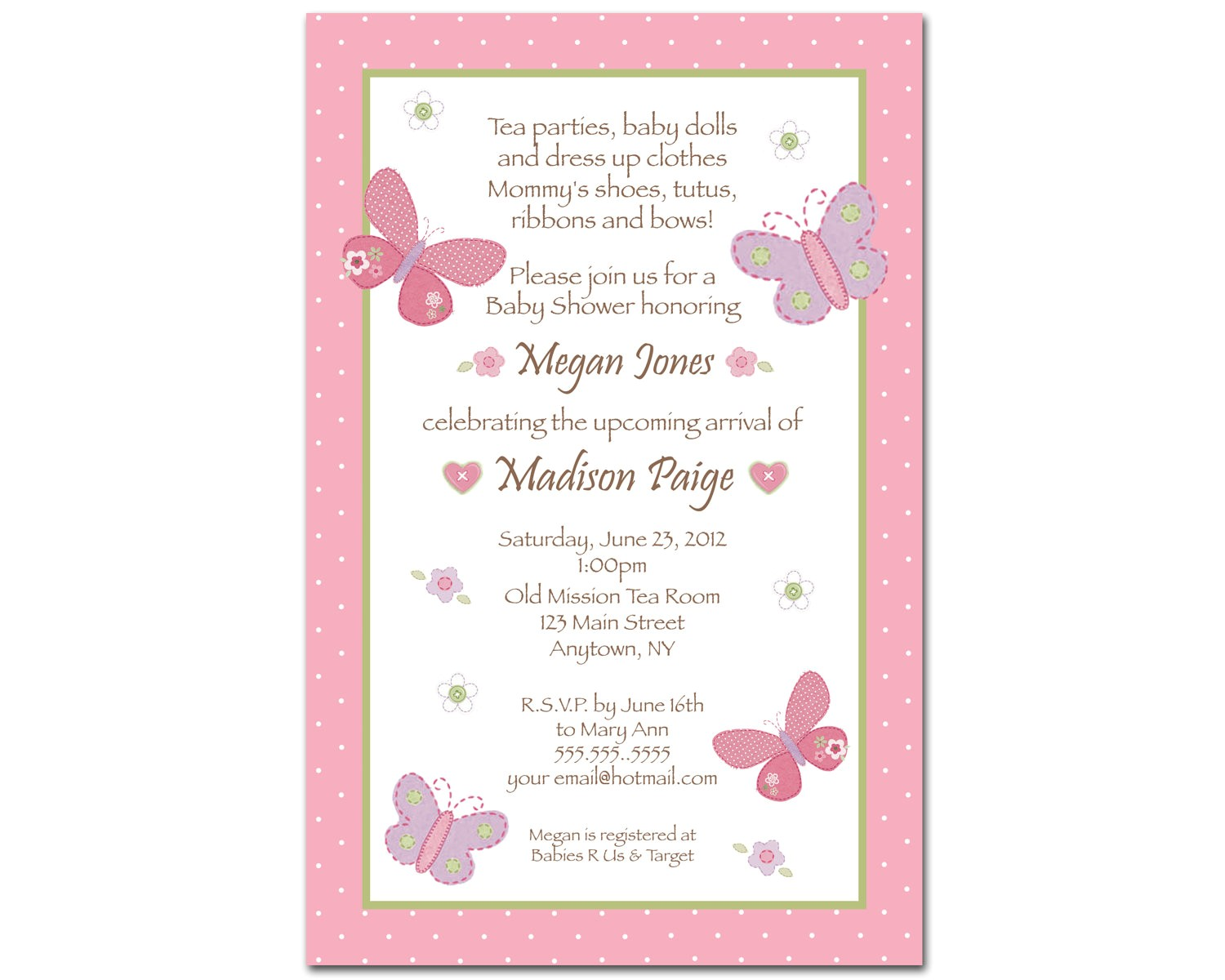 Butterfly Baby Shower Invites butterfly Baby Shower Invitations