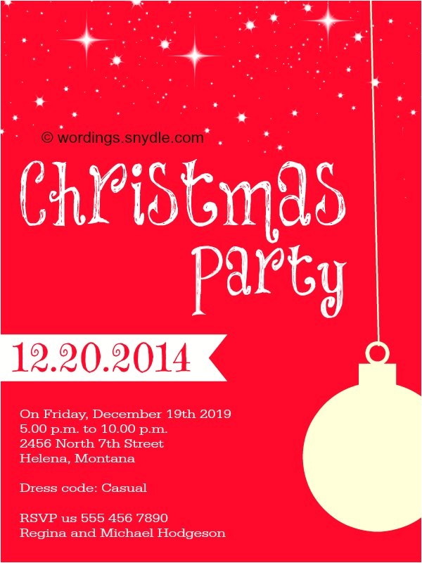 Christmas Invitation Wording for A Company Party Christmas Party Invitation Wordings Wordings and Messages