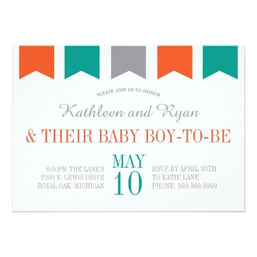 Co-ed Baby Shower Invite Co Ed Baby Shower Invitation