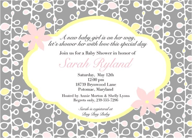 Coed Baby Shower Invitations Wording Ideas Coed Baby Shower Invitation Wording