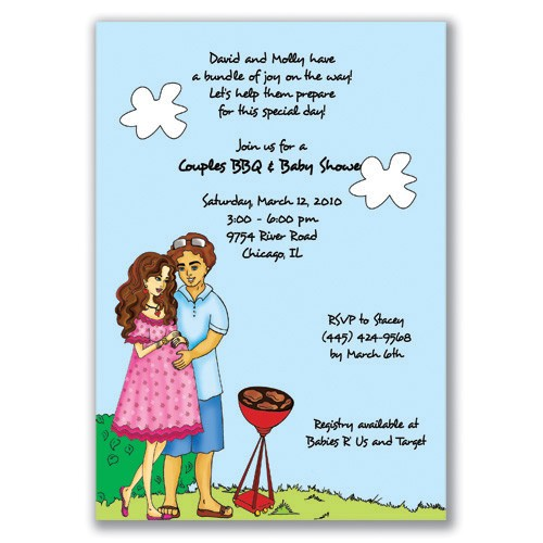Couples Baby Shower Wording On Invitations Couples Baby Shower Invitations Wording