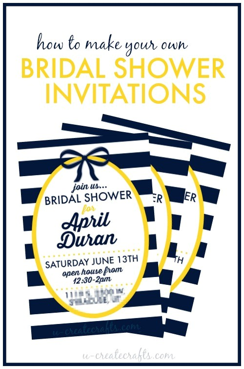 Create Your Own Bridal Shower Invitations How to Make A Bridal Shower Invitation U Create