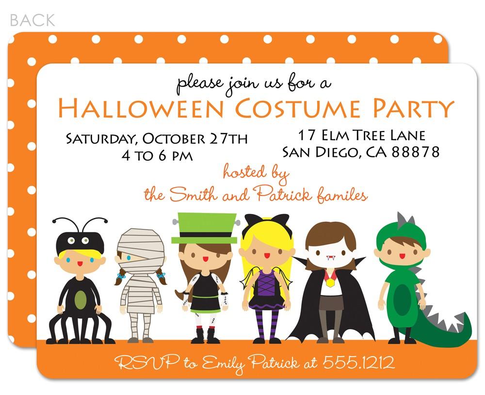 Custom Halloween Birthday Invitations Party Invitations Custom Party Invitations Cartoon Ideas
