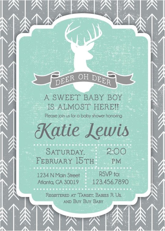 Deer Hunting Baby Shower Invitations 25 Best Ideas About Deer Baby Showers On Pinterest