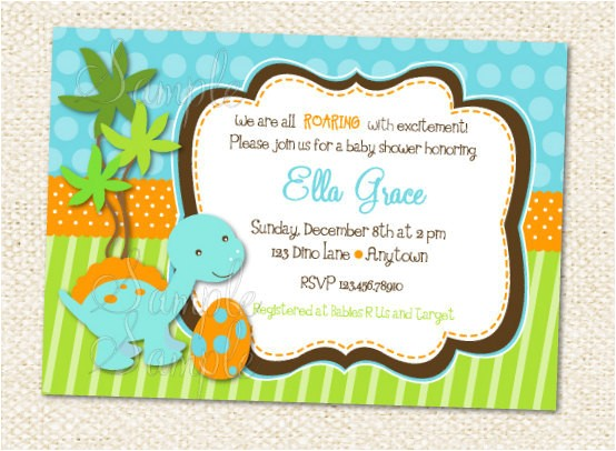 Dinosaur Baby Shower Invitations Online Dinosaur Baby Shower Invitations by Lollipopprints On Etsy