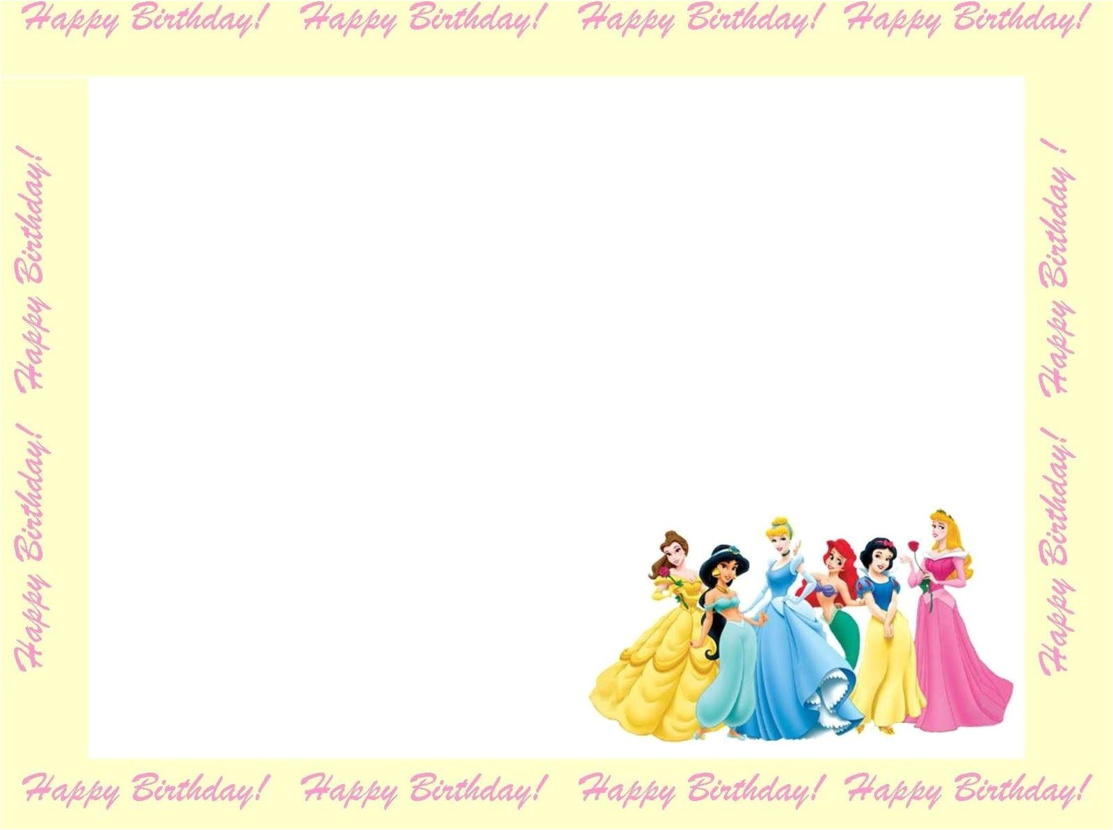 Disney Princess Birthday Invitation Templates Free 6 Free Borders for Birthday Invitations
