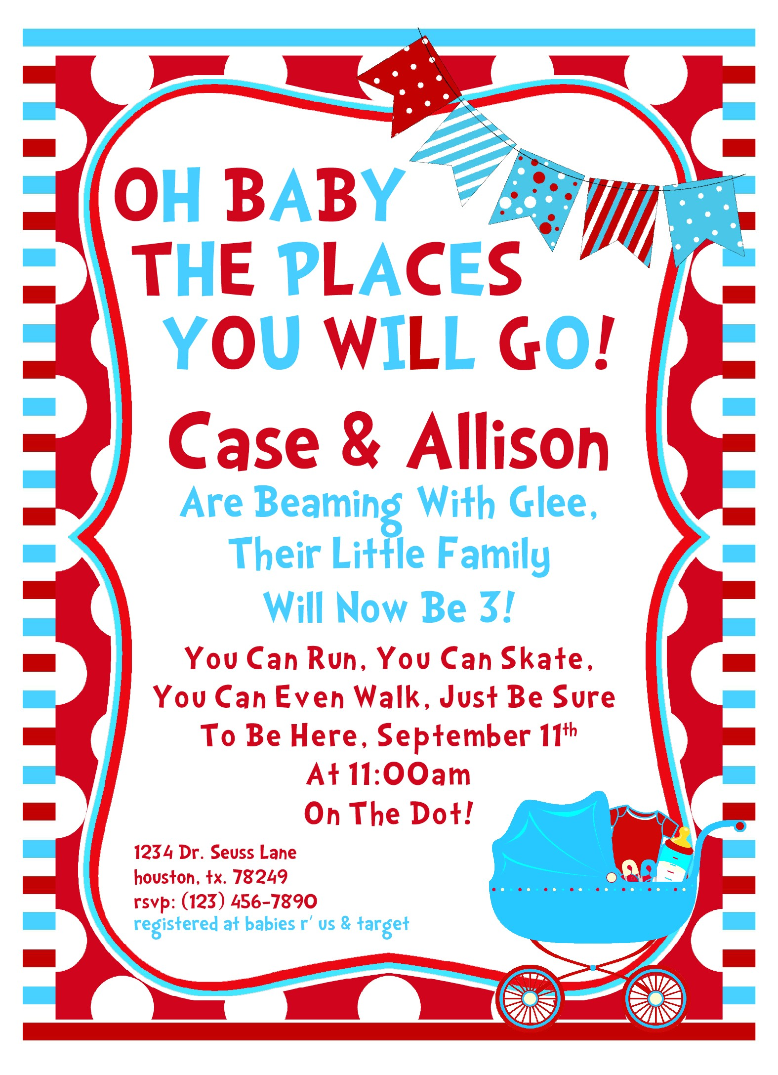 Doctor Seuss Baby Shower Invitations 8 Best Of Free Printable Dr Seuss Baby Shower Dr
