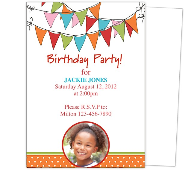 Download Free Birthday Party Invitation Templates Birthday Party Invitation Templates Free Download
