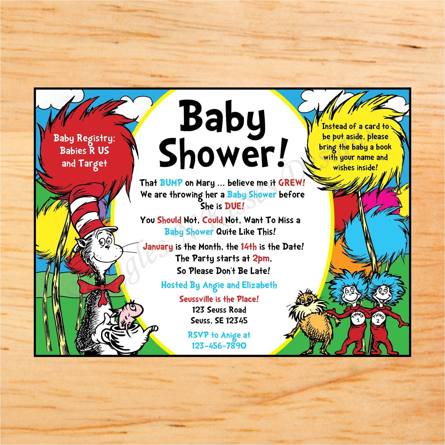 Dr Seuss Baby Shower Invitations Target Dr Seuss Baby Shower Mini Candy Bar Wrappers
