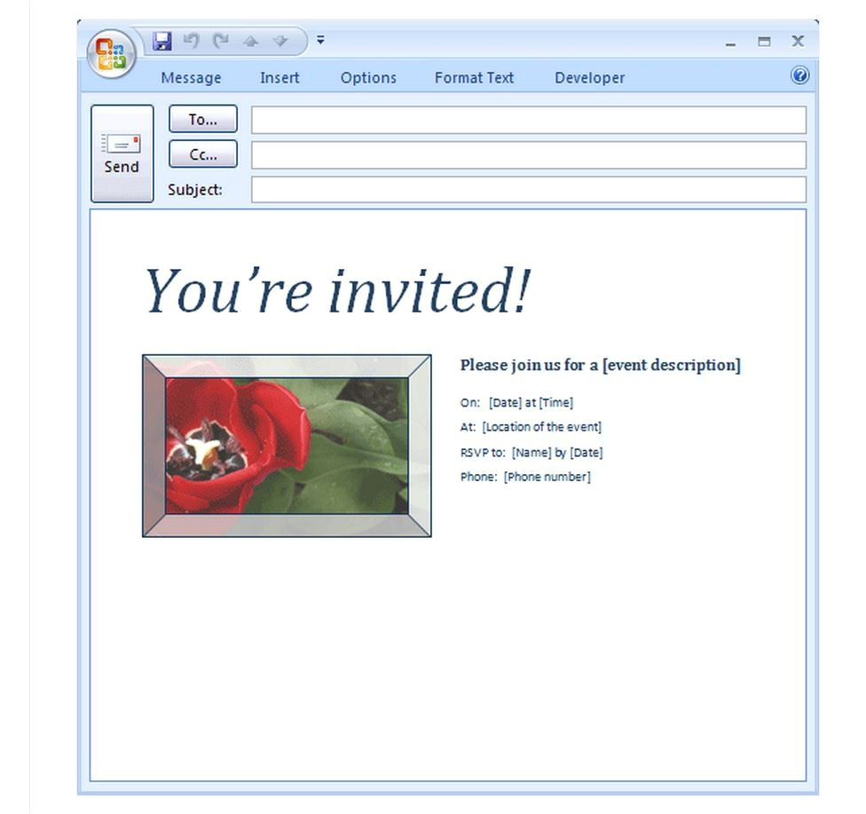 Email Birthday Invitations with Photo Email Party Invitation Template