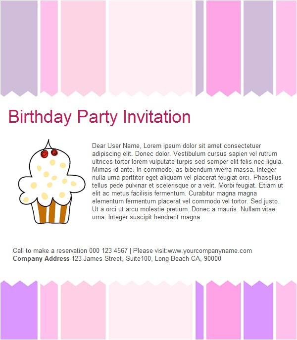 Email Birthday Invitations Wording Birthday Invitation Email Template – 27 Free Psd Eps