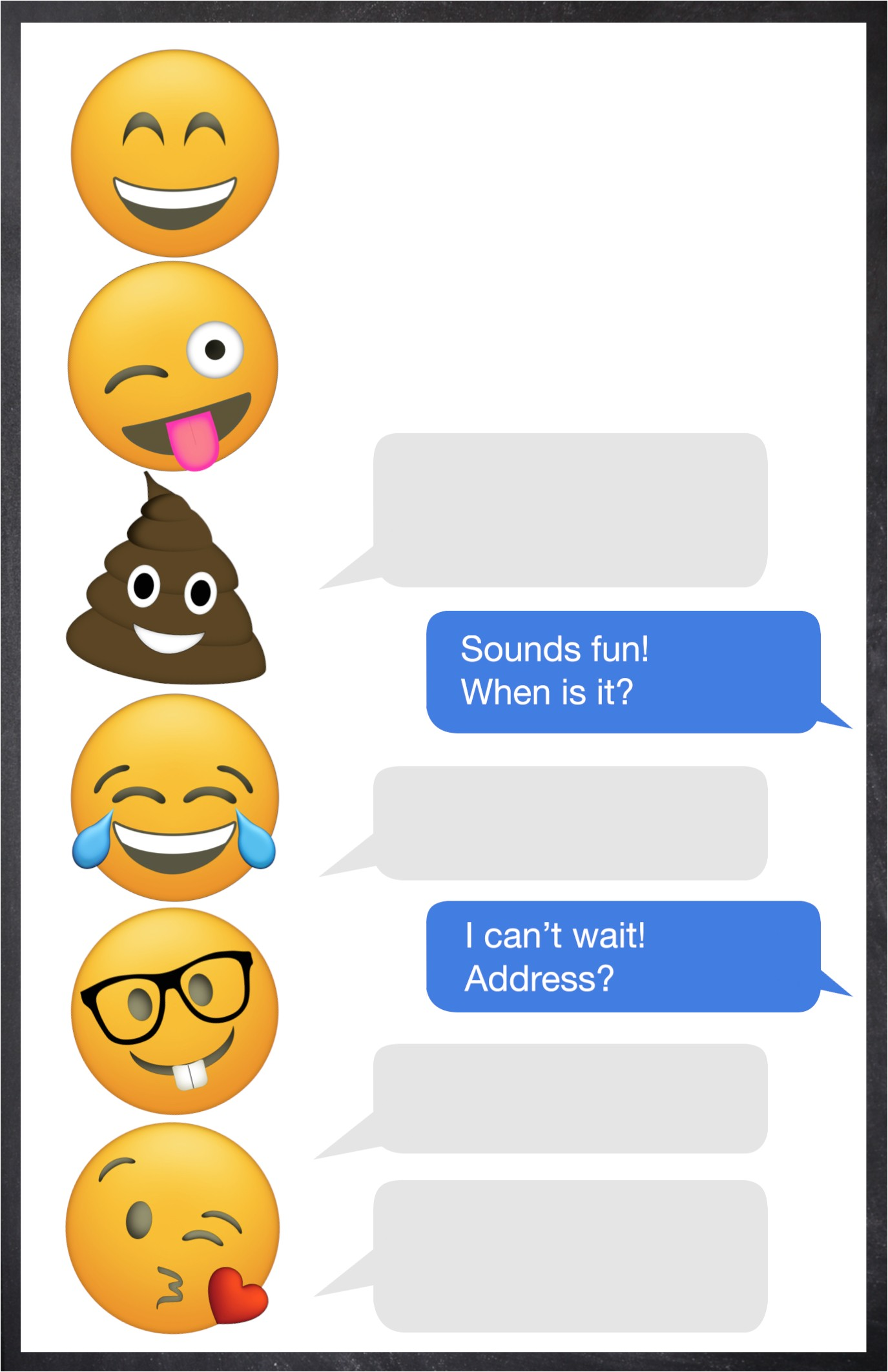 Emoji Birthday Invitation Template Emoji Birthday Invitations Free Printable Template Paper