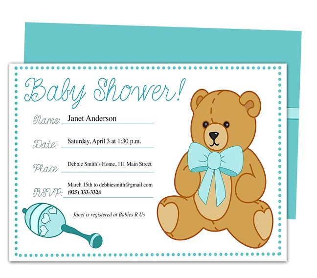 Example Of Baby Shower Invitation Card Baby Shower Sample Invitations