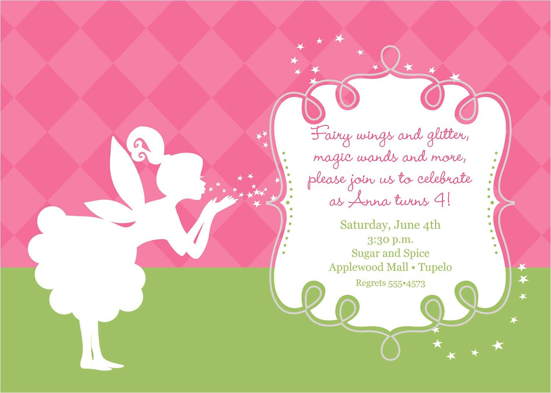 Fairy themed Birthday Invitation Wording Pixies and Fairy Wings Birthday Invitation Printable