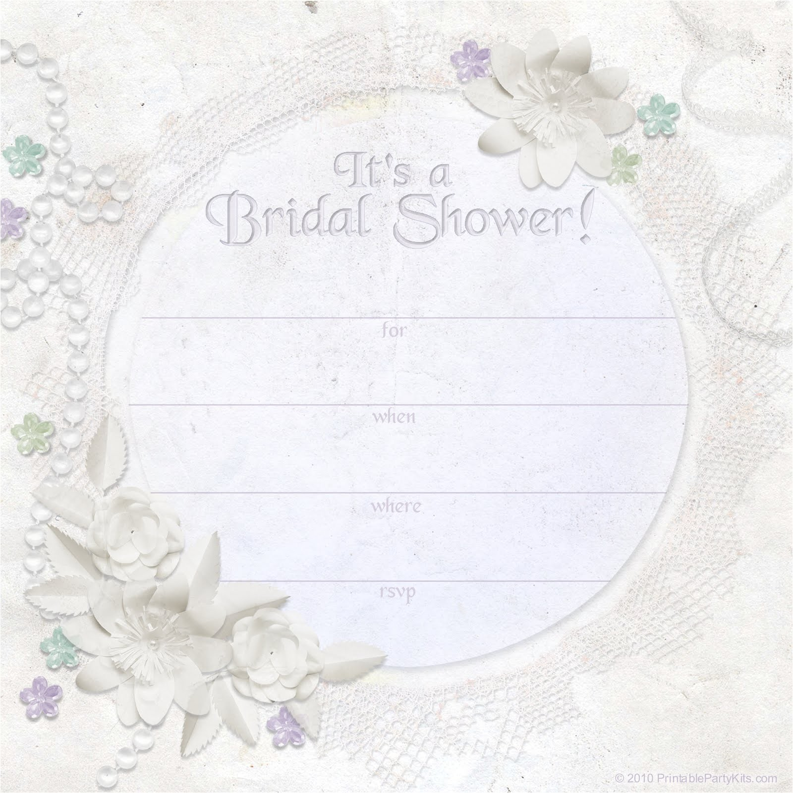 Free Bridal Shower Invitation Free Printable Party Invitations Ivory Dreams Bridal