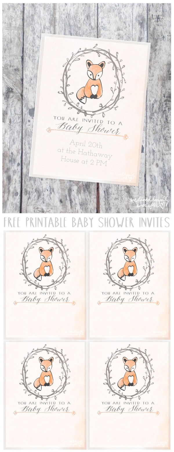 Free Customizable Printable Baby Shower Invitations Free Customizable forest Animal Baby Shower Invite