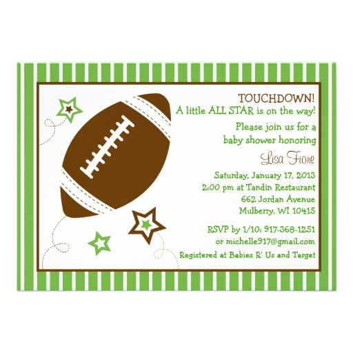 Free Football Baby Shower Invitations Football All Star Baby Shower Invitations