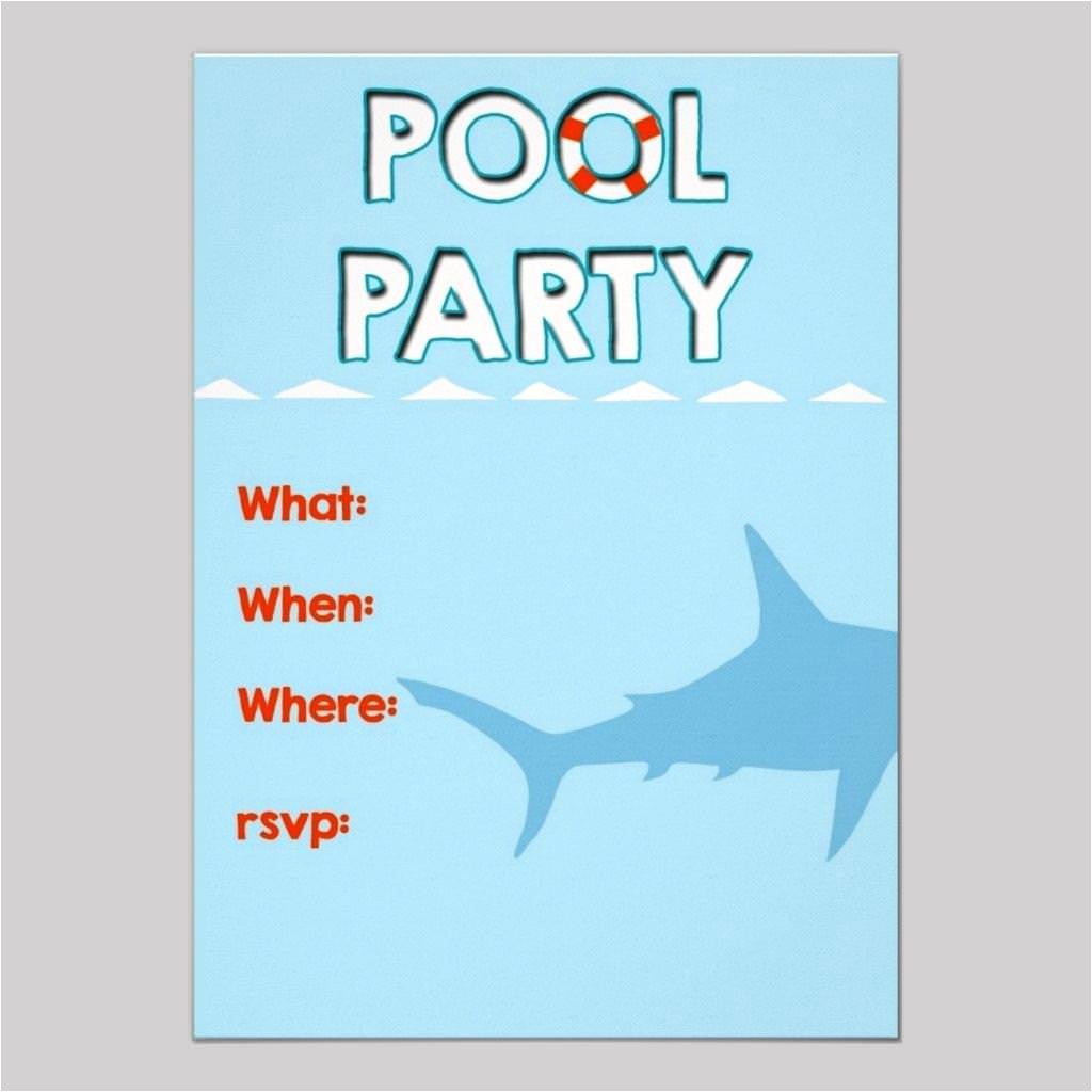 Free Pool Party Invitations Free Pool Party Invitation Templates