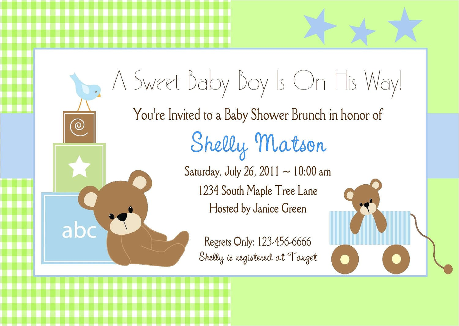 Free Printable Baby Shower Invitations for A Boy Baby Shower Invitation Wording Lifestyle9