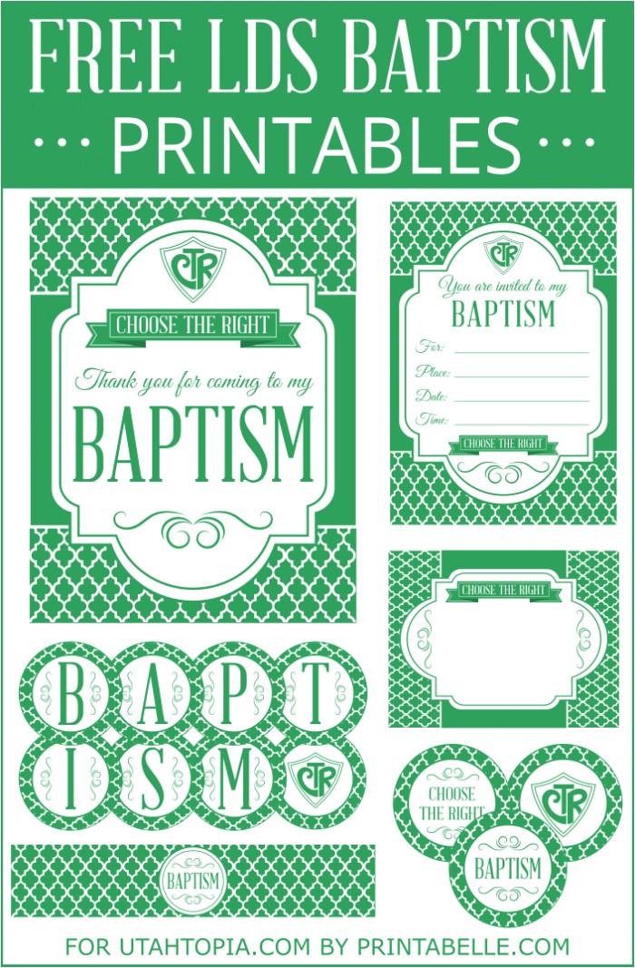 Free Printable Baptism Invitations Lds Free Printable Lds Baptism Invitations