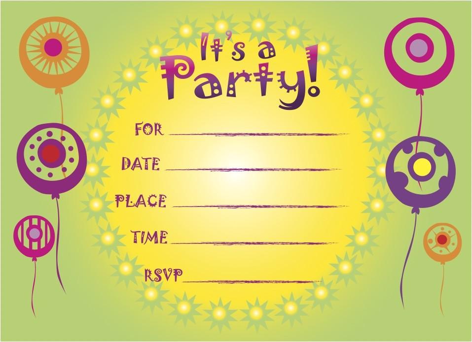 Free Printable Birthday Invitations for Kids Printable Birthday Invitations 5 Coloring Kids