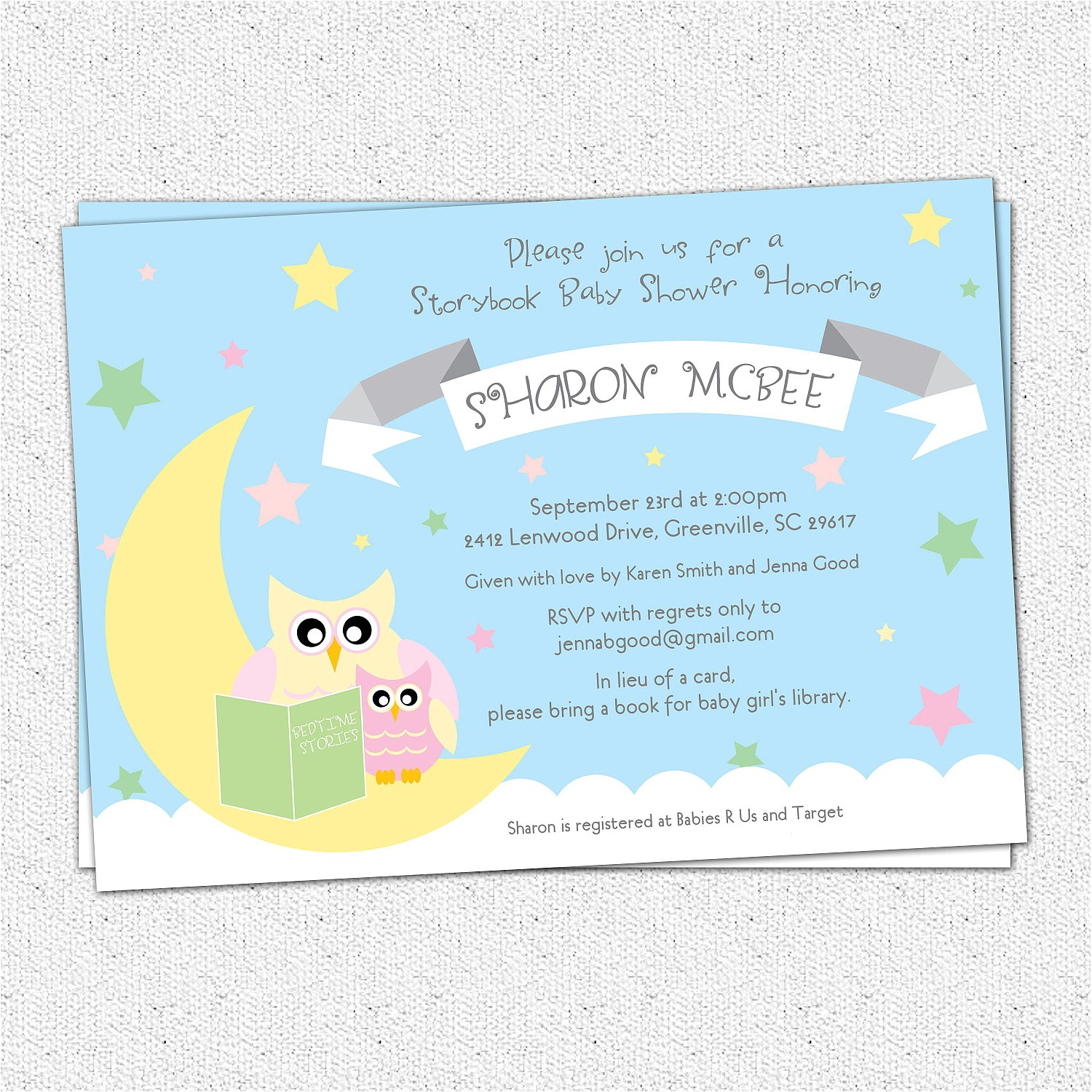 Free Printable Book themed Baby Shower Invitations Baby Shower Invitation Printable Story Book themed Mom and