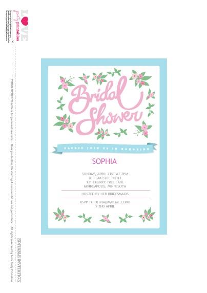 Free Printable Bridal Shower Invitations Cards Free Bridal Shower Party Printables From Love Party