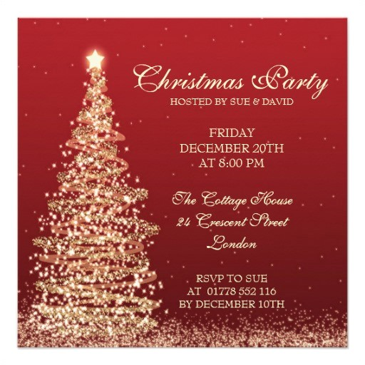 Free Printable Elegant Christmas Party Invitations Christmas Invitation Templates