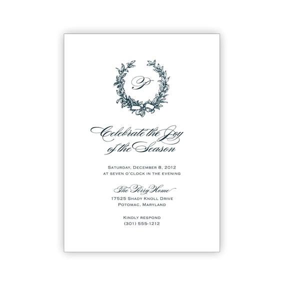 Free Printable Elegant Christmas Party Invitations Printable Elegant Holiday Party Invitations by