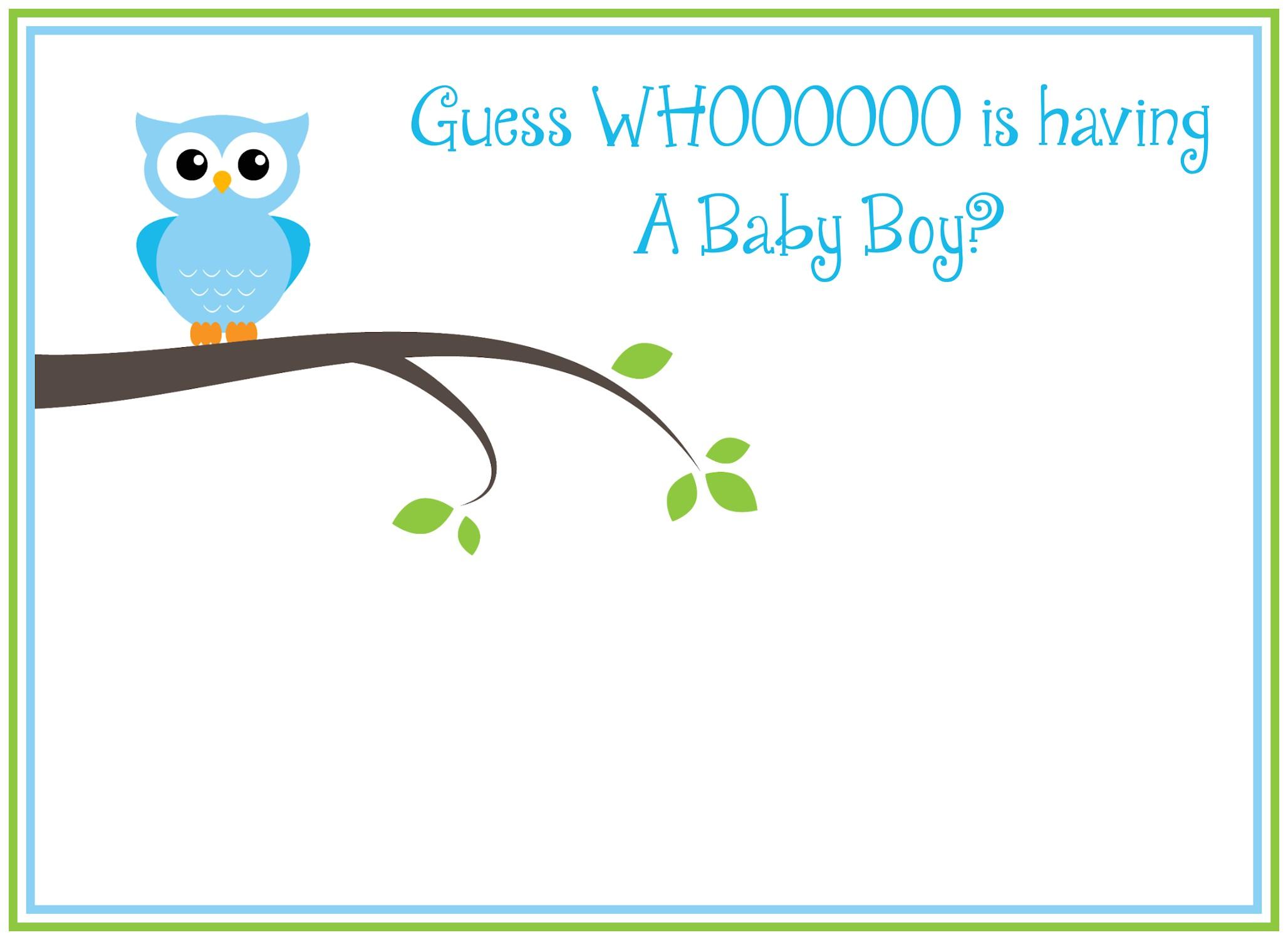 Free Printable Owl Baby Shower Invitations Free Printable Owl Baby Shower Invitations