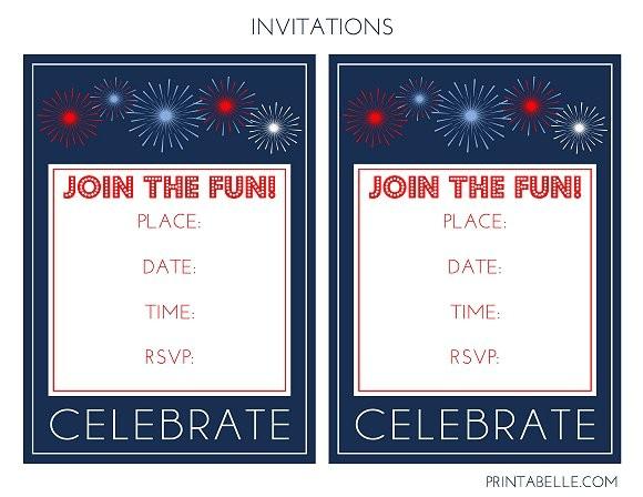 Free Printable Patriotic Birthday Invitations Free Patriotic Party Printables From Printabelle